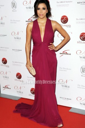 Celebrity Eva Longoria Prom Dress Noble Gift Gala Red Carpet Dresses