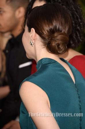 Felicity Jones Hoher Ausschnitt Formeller Abend 2015 Golden Globe Awards Roter Teppich  TCD6016