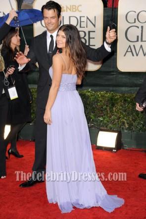 Fergie Lavendel Abendkleid 67. Golden Globe Awards Promi Kleider