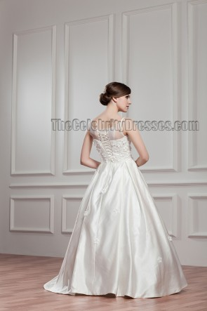 Wunderschönes bodenlanges A-Line Brautkleid Ballkleid
