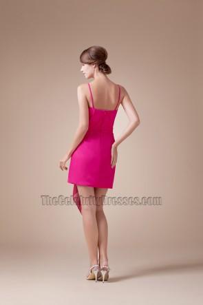 Fuchsia Chiffon Short Mini Cocktail Party Homecoming Dresses