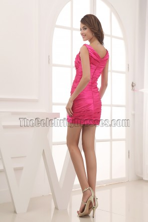 Fuchsia Mini Party Homecoming Cocktail Dresses