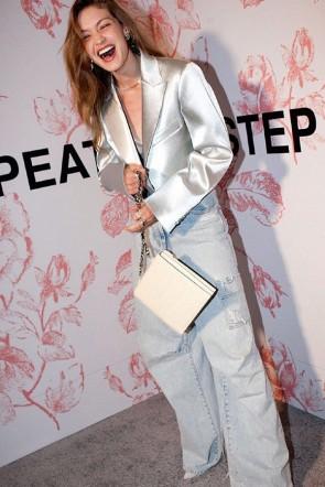 Gigi Hadid Silver Sparkly Blazers