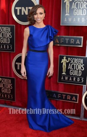 Giuliana Rancic Royal Blue Prom Dress 2013 SAG Awards Red Carpet