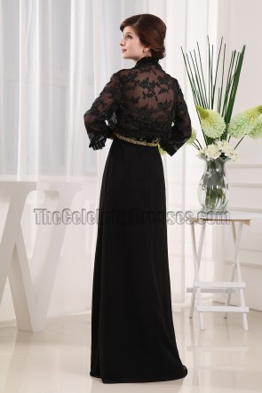 Elegant Black Strapless Formal Dress Evening Gown With Beading