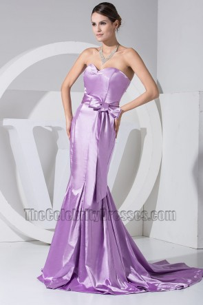 Gorgeous Lilac Strapless Mermaid Formal Dress Prom Dresses
