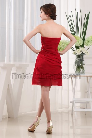 Gorgeous Red Strapless Graduation Cocktail Dress Party Dresses