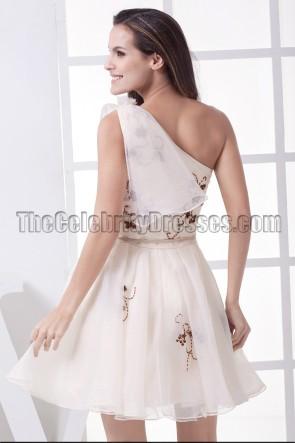 Gorgeous Short One Shoulder A-Line Graduation Cocktail Dresses