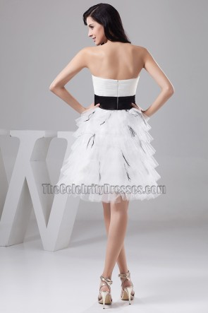 Gorgeous Short Strapless A-Line Organza Party Cocktail Dresses