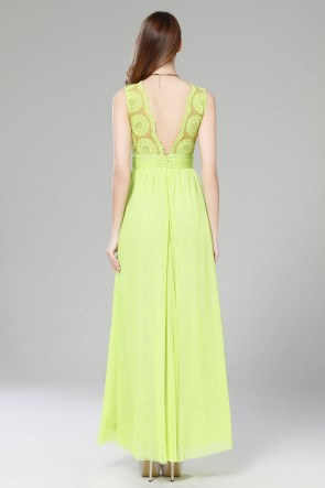 Green Sleeveless Maxi Dress Wedding Guest Dresses TCDBF2003