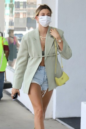 Hailey Baldwin Fashion Suit Jacket Streetwear