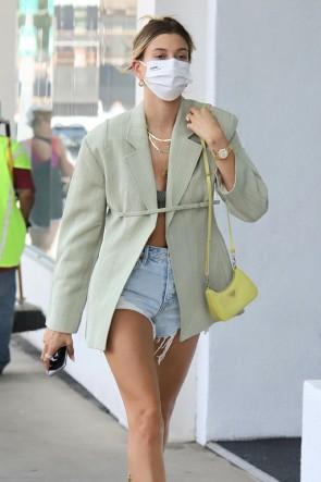 Hailey Baldwin Fashion Suit Jacket Streetwear