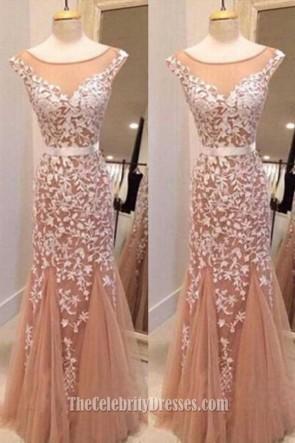 Handmade Styles Lace Appliques Mermaid Abendkleid Abendkleid