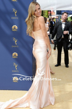 Heidi Klum Strapless Mermaid Evening Dress Emmys 2018 TCD8072