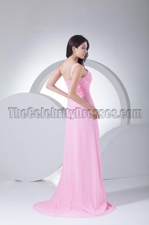 Wunderschönes pinkes One Shoulder Ballkleid Abendkleid