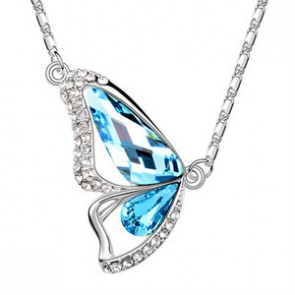 Hot Sale Butterfly Swarovski Element Pendant Necklace TCDN2182