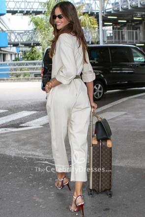 Izabel Goulart White Pockets Jumpsuit Martinez Hotel
