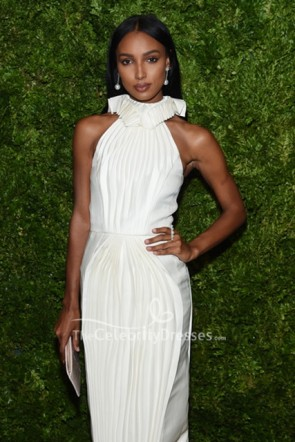 Jasmine Tookes Halter Dress 2019 CFDA/Vogue Fashion Fund Awards  TCD8756