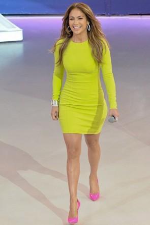 Jennifer Lopez Short Long Sleeve Party Dress Sao Paulo Promotions