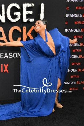 Jessica Pimentel Shoulder Pad Dress Premiere of 'Orange is the New Black' TCD8615
