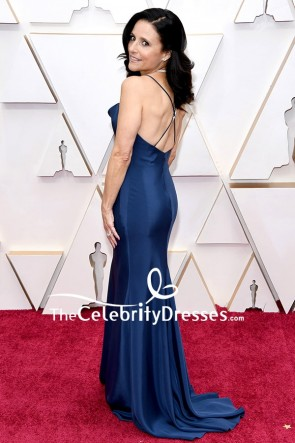 Julia Louis-Dreyfus Navy Blue Mermaid Evening Dress 2020 Oscars