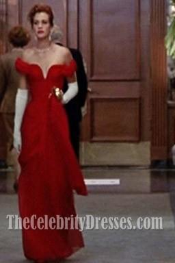 Julia Roberts Pretty Woman Rotes Kleid Abend Prom Kleid zum Verkauf