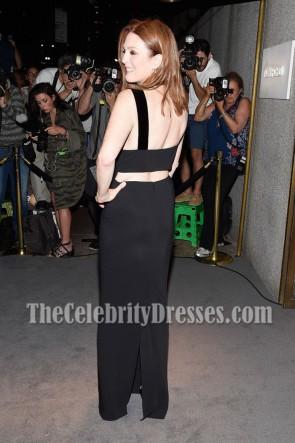 Julianne Moore Schwarze Spalte Abend Promkleid New York Fashion Week