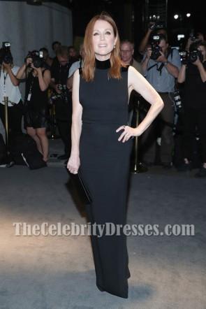 Julianne Moore Black Column Evening Prom Gown dress New York Fashion Week 1