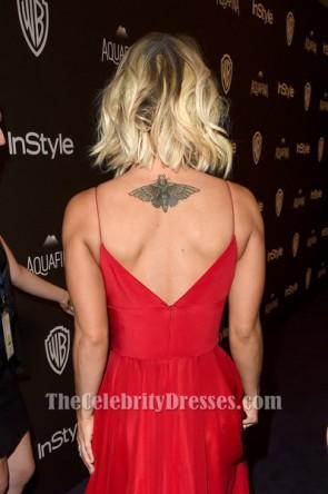 Kaley Cuoco roten Abendkleid 2016 Golden Globe Awards Post-Party-Kleid