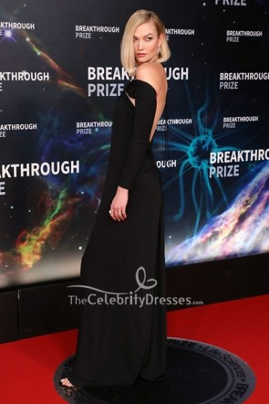 Karlie Kloss Black Long Sleeves Dress 2020 Breakthrough Prize  TCD8754
