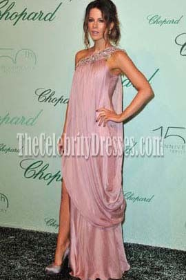 Kate Beckinsale Pink One Shoulder Formal Evening Dress 2010 Cannes Film Festival