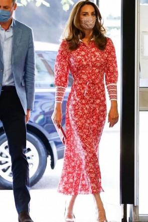 Kate Middleton 2021 Floral Midi Dress