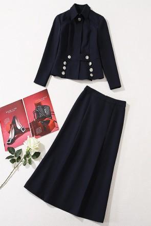 Kate Middleton 2020 Dark Navy Zweiteiliger Anzug