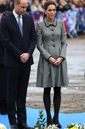 Kate Middleton Gray Shirt Dress