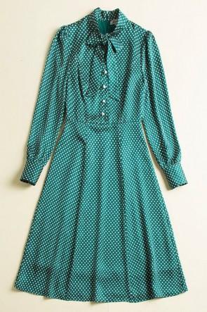 Kate Middleton Grün gedrucktes lässiges Sommerkleid mit Ärmeln 2019