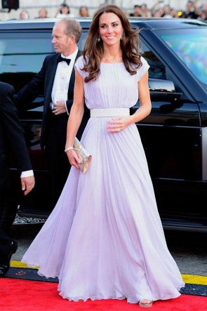 Kate Middleton Long Prom Dress Formal Gown BAFTA Brits event Red Carpet