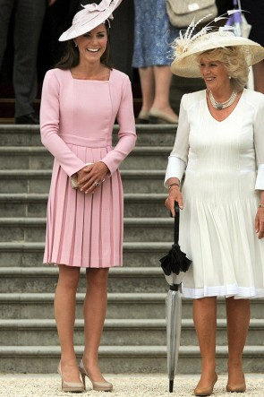 Kate Middleton Pink Ruffled Short Dress With Sleeves