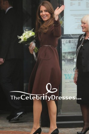 Kate Middleton Wool Coat With Sleeves In Grimsby TCD7647