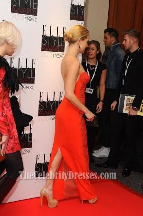 Kate Hudson Orange Rot Promkleid 2013 Elle Style Awards Roter Teppich