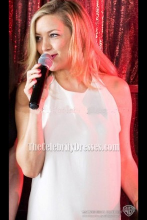 Kate Hudson Mini Weiß Halter Kleid in etwas geliehenen Promi Movie Celebrity Kleider