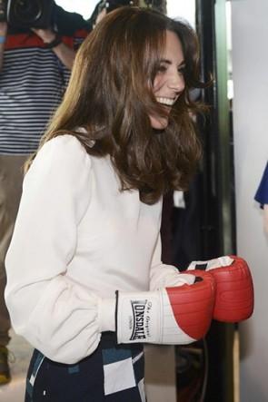 Kate Middleton Weißes Hemd Mit Langen Ärmeln