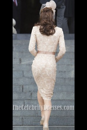 Kate Middleton Spitze Cocktailkleid Queen's Thanksgiving Service