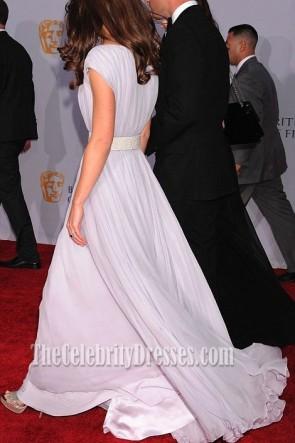 Kate Middleton langes Abschlussball-Kleid formales Kleid BAFTA Brits Ereignis roter Teppich