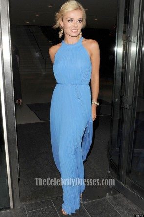 KATHERINE JENKINS Blue Chiffon Prom Dress Argiva Radio Awards 2012