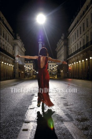 Keira Knightley Rot Abendkleid für Coco Mademoiselle Prom Kleider