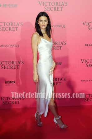 Kendall Jenner Weiß Spaghetti Straps Partykleid Victoria's Secret Fashion Show 2016 After Party