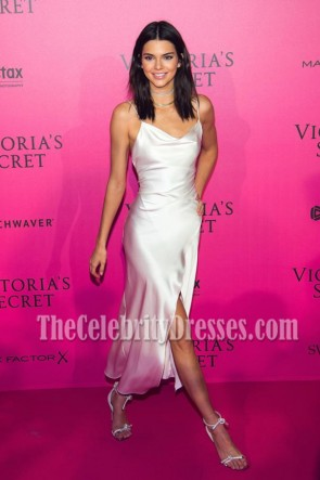 Kendall Jenner White Spaghetti Straps Party Dress Victoria's Secret Fashion Show 2016 After Party