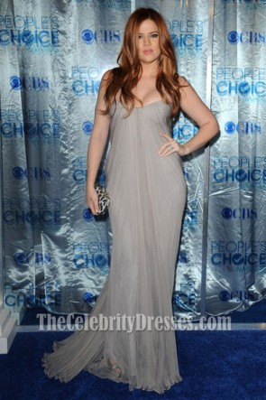 Khloe Kardashian Gray Prom Dress People's Choice Awards 2011