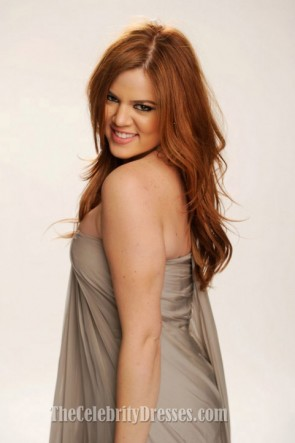 Khloe Kardashian Grey Abschlussball Kleid People's Choice Awards 2011
