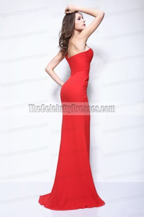 Kim Kardashian Rote One Schulter Prom Kleid LACMA